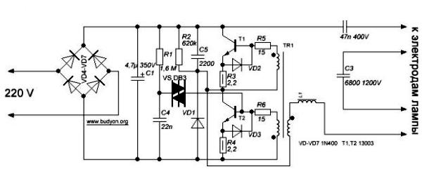 ЭПРА для люминесцентных ламп: что это такое, как работает, схемы подключения ламп с ЭПРА